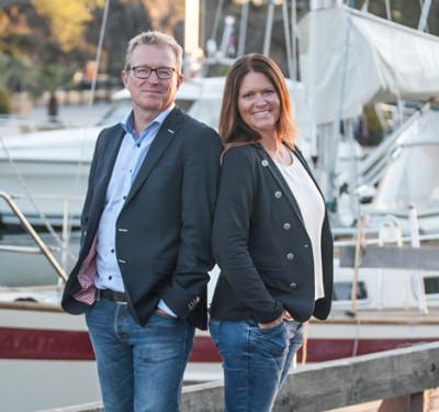 Båtjurist Lars Häller samt Elisabeth Larsson
